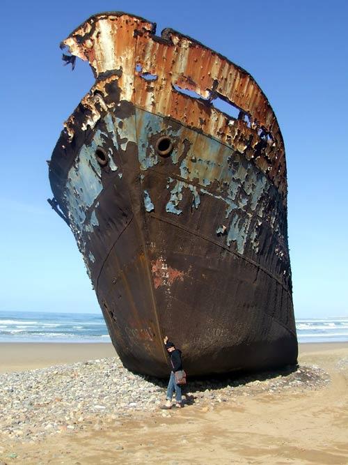 Schiffswrack bei Sidi Ifni