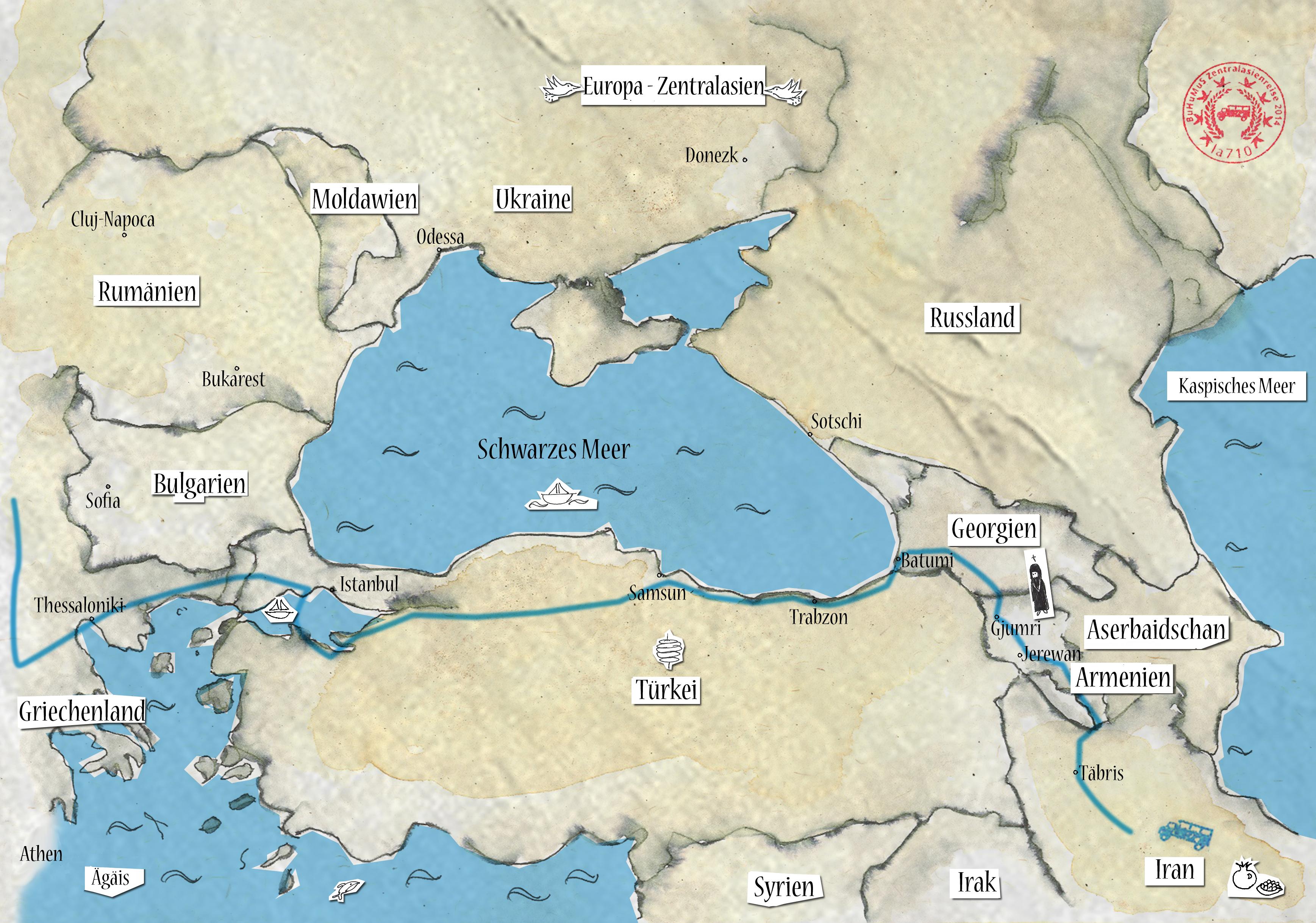 Rückreise über Türkei und Griechenland und Osteuropa