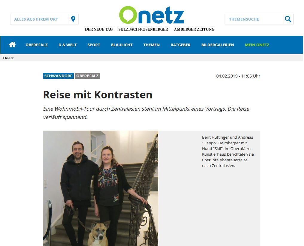 Onetz Bericht über den Roadtrip mit Frau Scherer